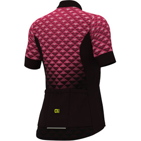 Alé Cycling Solid Hexa SS Jersey Women black flou pink